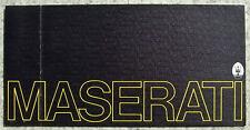 MASERATI CAR RANGE Sales Brochure 1973 MERAK - BORA - INDY 4900
