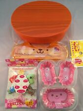 NEW!Japanese BENTO Lunch Box Set  Wood  WAPPA  Orange color Chopsticks,Picks,Cup