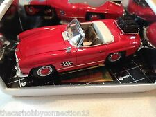 Bburago Mercedes-Benz 300SL Touring Cabriolet Red Scale 1:18 Diecast Model Car