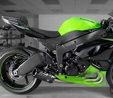 2009-2016 ZX6R Two Brothers Carbon Fiber Full Exhaust BLACK 2012 2013 2014 2015