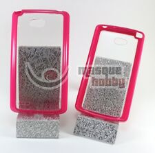 Funda Carcasa Dura Borde de Gel LG Optimus L80 Rosa NUEVO