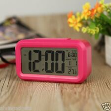 Digital Smart Backlit LCD Display Alarm Clock With Snooze Calendar Temperature