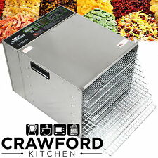 New STAINLESS STEEL Commercial Dehydrator Food Fruit Jerky Dryer Tray Blower C