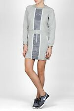 Nike Tech Fleece Splatter Dress- Women's XL- Heather Grey and White