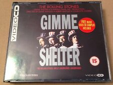 The Rolling Stones - Gimme Shelter Ultra Rare 3 Disc VCD Set Video Cd Inc Promo