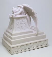 Sobbing Holy Guardian Angel Urn Surrounds with Cross.Christianity Cremation Box
