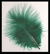 BAG HUNTER GREEN MARABOU FEATHERS FOR CARDS OR CRAFTS