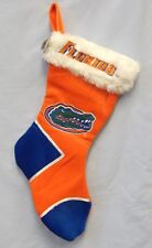 "FLORIDA GATORS NCAA 18"" PLUSH CHRISTMAS XMAS STOCKING FREE SHIP"