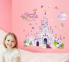 Princess Castle Girl Wall Sticker Nursery Home Decal Decor Vinyl Art Kids Room