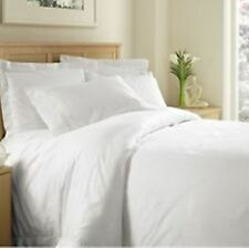 KING SIZE WHITE SOLID BED SHEET SET 800 THREAD COUNT 100% EGYPTIAN COTTON
