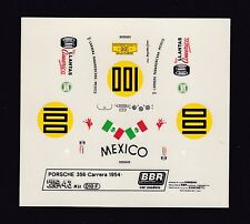 NEU BBR Decal Sheet Porsche 356 Carrera Panamericana 1954 Nr100 Scale 1/43