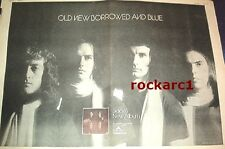 SLADE Old New Borrowed Blue 1974  UK Giant Poster size Press ADVERT 16x12 inches