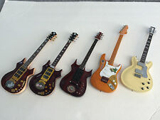 Set of Five (5) Grateful Dead Jerry Garcia Signature Mini Guitars -Free Shipping