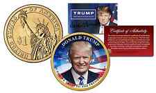 DONALD TRUMP for 45th President 2016 Presidential $1 Dollar Golden U.S. Coin