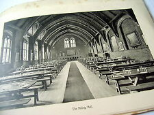 HISTORIC PHOTOGRAPHY: ELLESMERE COLLEGE~ca 1930's~INTERIOR~EXTERIOR~ARCHITECTURE