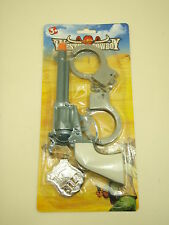 western cowboy police toy gun set fancy dress costume or pretend play