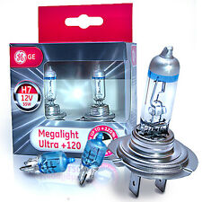GE H7 MegaLight Ultra +120% 2er Set + 2x  Osram W5W Halogen Cool Blue Intense