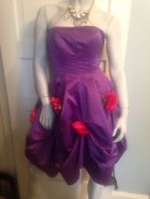 NWT RARE Betsey Johnson Purple Dress Sz 4 Roses