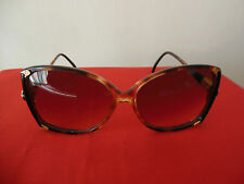 VTG. Authentic Gucci Havana Brown Butterfly Sunglasses, GG2105/S. Gold Tone Logo