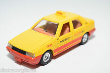 TOMICA DANDY TOMY TOYOTA COROLLA SEDAN TAXI YELLOW MINT CONDITION