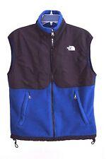 The North Face Men's Warm Zip Black Blue Vest sz Small