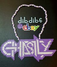 Ghastly kandi perler necklace rave EDC PLUR