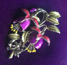 VINTAGE  1950 'S EXQUISITE BIRTHDAY BROOCH -FUSCIA FOR JULY