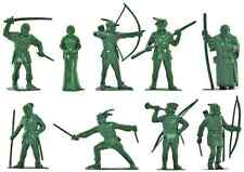 Marx Recast 60mm Robin Hood - 9 Figures in 9 poses - unpainted plastic