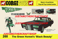 Corgi Toys 268 The Green Hornet 1967 A3 Size Poster Advert Shop Sign Leaflet