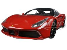 FERRARI 488 GTB RED SIGNATURE SERIES 1:18 DIECAST MODEL CAR BBURAGO 16905