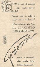 W2351 Cipria Giacinto Innamorato di Gi.vi.emme - Pubblicità del 1930 - Advert