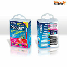 Piksters Interdental Red Handle Size 4 Brush - Pack of 40
