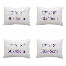 """Set Of 4 Hollowfibre Cushion Inner Pads 12""""x18""""/30cmx45cm Inserts Fillers Pad"""