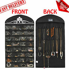 Hanging Jewelry Organizer Holder Necklace Earring Storage Box Wall Rack Display
