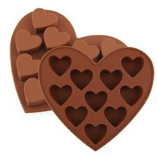 10 Heart Shaped Chocolate Ice Jelly Silicone Mould Mold Tray Cake Valentine UK