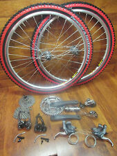 "FULL SHIMANO XTR 8 SPEED TRIPLE COMPLETE BUILD KIT GROUP MAVIC X517 26"" WHEELSET"