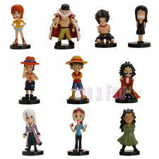 New One Piece Luffy Robin Sanji Franky Usoppu Nami Brook Chopper PVC figures Set