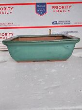 Ceramic Bonsai Pots - Japanese Green Ceramic Pot Is 8x5.5'' Inches