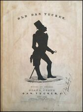 "Dan EMMETT (Minstrelsy): ""Old Dan Tucker"" First Edition"