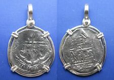 Sterling Silver Nautical Shipwreck Coin Unique Anchor Shaped Markings Pendant