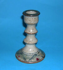 Kersey Studio Pottery - Attractive Design & Decorated Candlestick (Fully Marked)