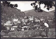 GENOVA MONTOGGIO 10 Frazione TAVERNA Cartolina FOTOGRAFICA viaggiata 1954