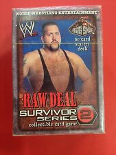 Big Show WWE Raw Deal Raw Deal Survivor Series 2 Sealed Starter Deck New WWF NIB
