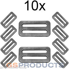 10x 50mm Webbing Buckle Stainless Steel 3 Bar Slide Cam Lock Adjustable FREE P+P