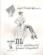 ▬► PUBLICITE ADVERTISING AD Doue & Lamotte DL 1951 Bas Lingerie Femme