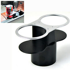 Auto Interior Black Double Wedge Between Seat Dual Coke Stand Drink Cup Holder
