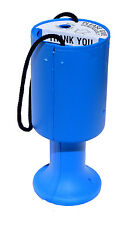 Round Charity Money Donation Collection Box / Tin - Light Blue - Fundraising
