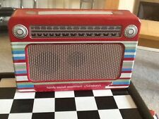 Red Collectable Radio Tin Empty