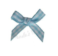 Gingham Tartan Check Ribbon Bows 7mm, 15mm 10 Colours Choose Pack Size Free Post