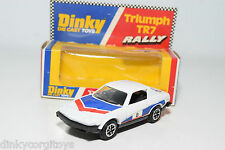 DINKY TOYS 207 TRIUMPH TR7 TR 7 RALLY WHITE MINT BOXED